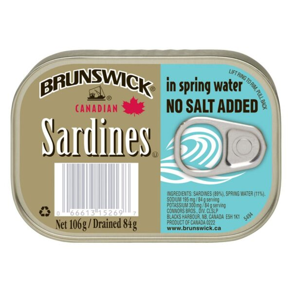 Brunswick - Canadian Sardines - In Spring Water - No salt added